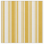 [ Thumbnail: Beige and Goldenrod Colored Lines/Stripes Pattern Fabric ]