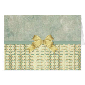 Beige and Green Bottom Border Card