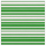 [ Thumbnail: Beige and Green Colored Lines Fabric ]