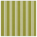 [ Thumbnail: Beige and Green Colored Pattern of Stripes Fabric ]