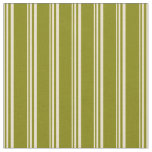 [ Thumbnail: Beige and Green Lines Fabric ]