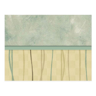 Beige and Green Mod Stripe (2) Postcard