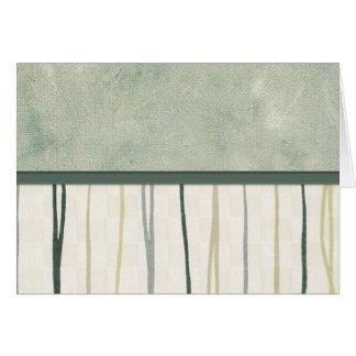 Beige and Green Mod Stripe (3) Card