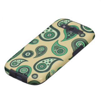Beige and Green Paisley Samsung Galaxy S Galaxy S3 Case