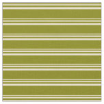 [ Thumbnail: Beige and Green Striped/Lined Pattern Fabric ]