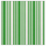 [ Thumbnail: Beige and Green Striped Pattern Fabric ]