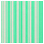 [ Thumbnail: Beige and Green Stripes Fabric ]