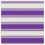 [ Thumbnail: Beige and Indigo Lined Pattern Fabric ]