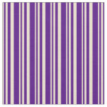 [ Thumbnail: Beige and Indigo Lined/Striped Pattern Fabric ]