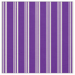 [ Thumbnail: Beige and Indigo Stripes/Lines Pattern Fabric ]