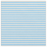 [ Thumbnail: Beige and Light Sky Blue Striped Pattern Fabric ]