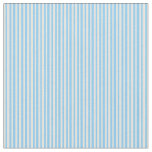 [ Thumbnail: Beige and Light Sky Blue Stripes Fabric ]