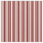 [ Thumbnail: Beige and Maroon Colored Lined Pattern Fabric ]