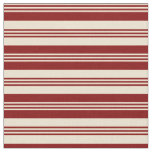 [ Thumbnail: Beige and Maroon Colored Lines/Stripes Pattern Fabric ]