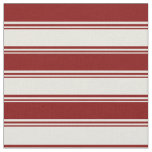 [ Thumbnail: Beige and Maroon Lines/Stripes Pattern Fabric ]