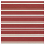 [ Thumbnail: Beige and Maroon Stripes Pattern Fabric ]