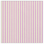 [ Thumbnail: Beige and Orchid Lines/Stripes Pattern Fabric ]