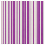 [ Thumbnail: Beige and Purple Colored Lined/Striped Pattern Fabric ]