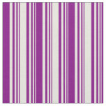 [ Thumbnail: Beige and Purple Colored Pattern Fabric ]