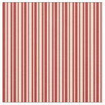 [ Thumbnail: Beige and Red Stripes/Lines Pattern Fabric ]
