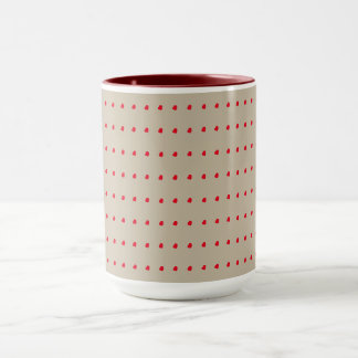 Beige and Rust Dots Pattern Ringer Mug