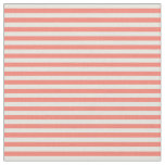 [ Thumbnail: Beige and Salmon Colored Striped Pattern Fabric ]