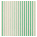 [ Thumbnail: Beige and Sea Green Stripes Pattern Fabric ]