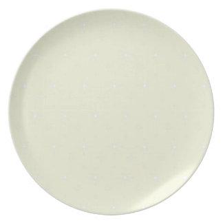Beige  And Shining Stars Elegant Pattern Dinner Plate