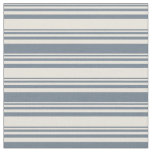 [ Thumbnail: Beige and Slate Gray Colored Lined Pattern Fabric ]