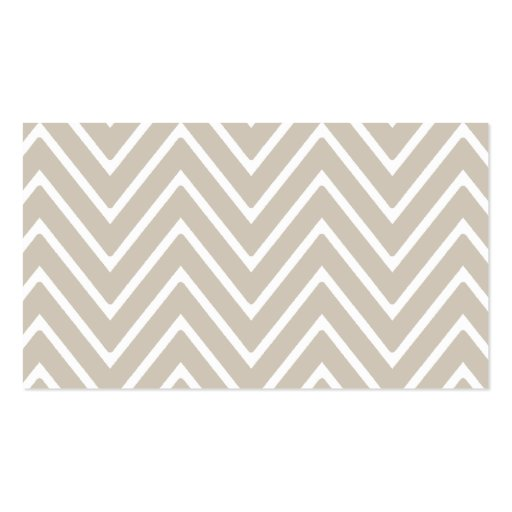 Beige and White Chevron Pattern 2 Business Card Template