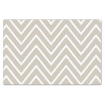 Beige and White Chevron Pattern 2 Tissue Paper