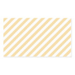 Beige and White Diagonal Stripes. Business Card Template