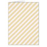 Beige and White Diagonal Stripes. Greeting Card