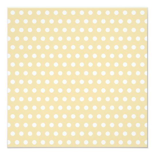 Beige and White Polka Dot Pattern. Spotty. Card