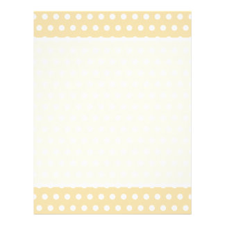 Beige and White Polka Dot Pattern. Spotty. Flyer