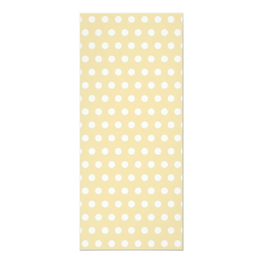 Beige and White Polka Dot Pattern. Spotty. Personalized Invitations
