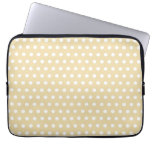 Beige and White Polka Dot Pattern. Spotty. Laptop Sleeves