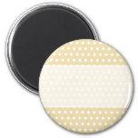 Beige and White Polka Dot Pattern. Spotty. Fridge Magnets