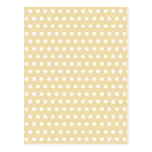 Beige and White Polka Dot Pattern. Spotty. Post Cards