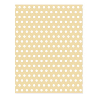 Beige and White Polka Dot Pattern. Spotty. Postcard