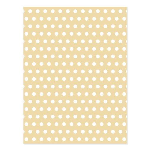 Beige and White Polka Dot Pattern. Spotty. Postcard