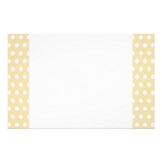 Beige and White Polka Dot Pattern. Spotty. Stationery
