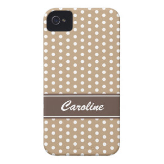 Beige and white polka dots BlackBerry Bold case