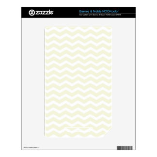 Beige-And-White-Zigzag-Chevron-Pattern Decal For NOOK Color