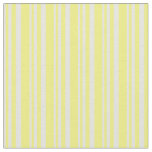 [ Thumbnail: Beige and Yellow Striped/Lined Pattern Fabric ]