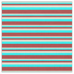 [ Thumbnail: Beige, Aqua, and Brown Colored Lines Fabric ]