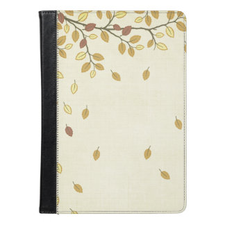 Beige Autumn Leaves Ecru Tan Taupe Neutral iPad Air Case