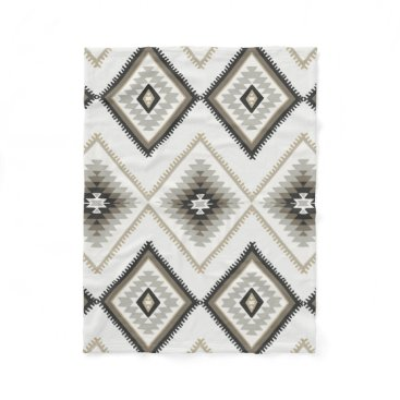Beige Aztec Fleece Blanket