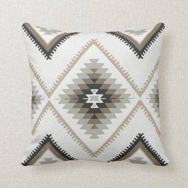 Aztec Themed Beige Aztec Throw Pillow