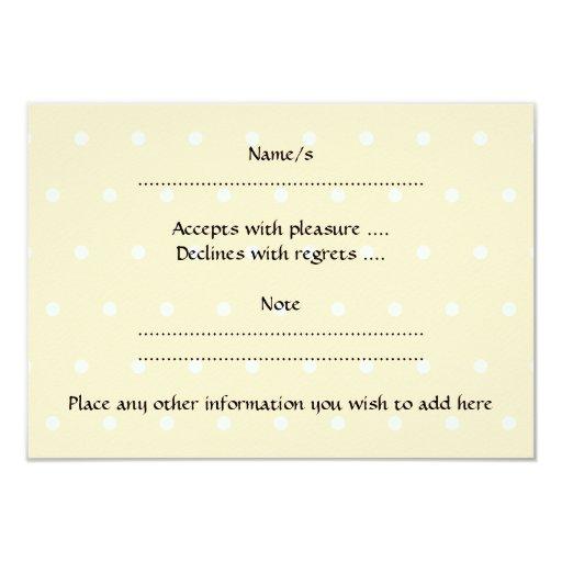 Beige Baby Pram. On spotty background. 3.5x5 Paper Invitation Card